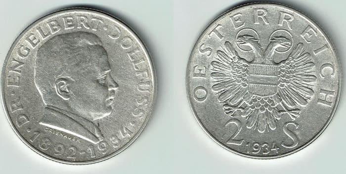 2 шиллинга из серебра