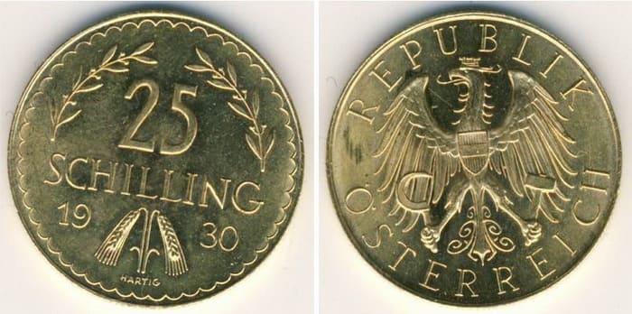 золотые 25 шиллингов