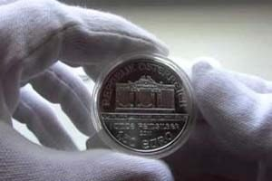 монета венская филармония серебро