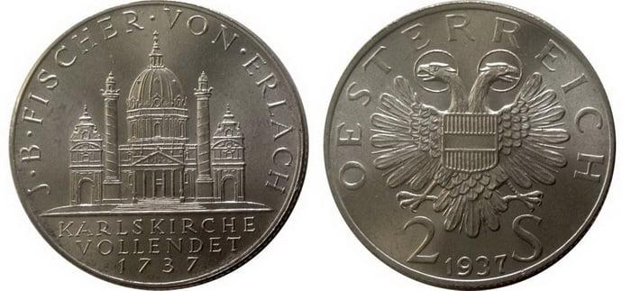монета 2 шиллинга