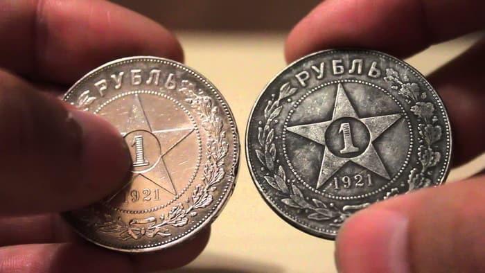 отличие монет