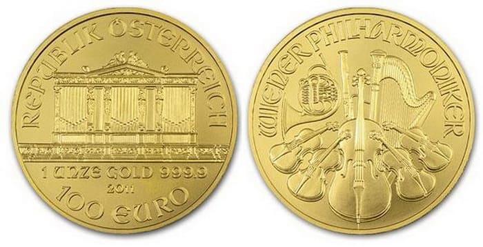 золотые 100 евро