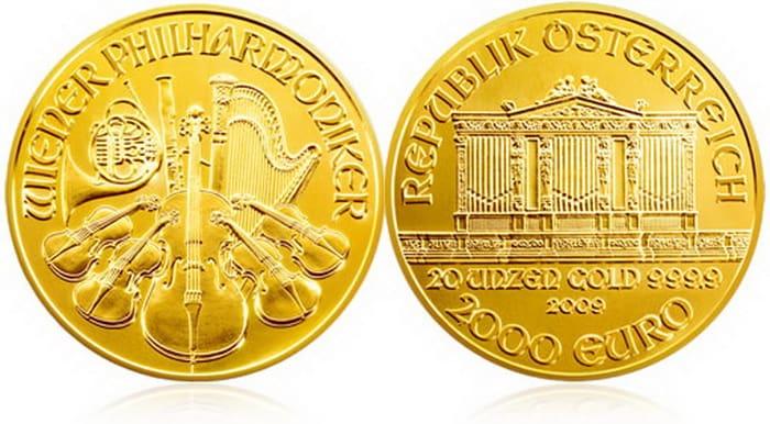 золотая монета 2000 евро
