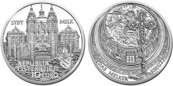 монета знаменитые аббатства Австрии