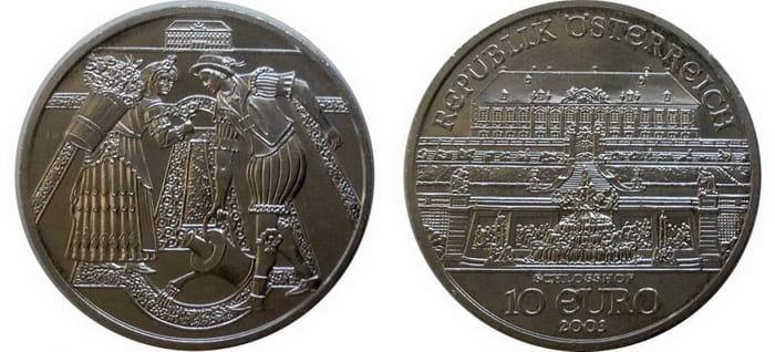 серебряные 10 евро