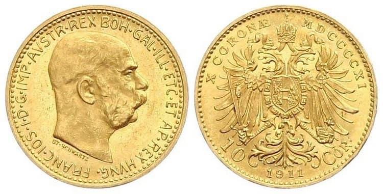 10 gold coronas 1911