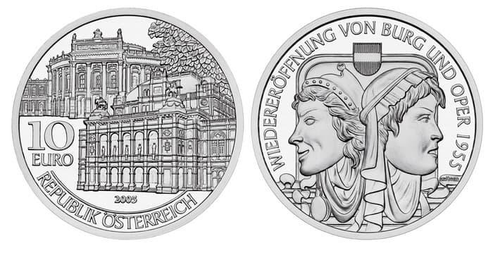 10 silver euro 2005