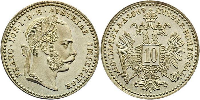 10 silver kreuzers 1769