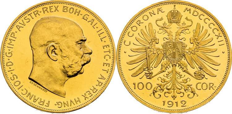 100 gold coronas 1909-1915