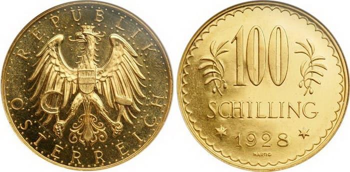 100 shilling 1928