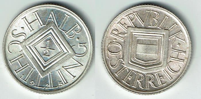 1 2 silver shillings