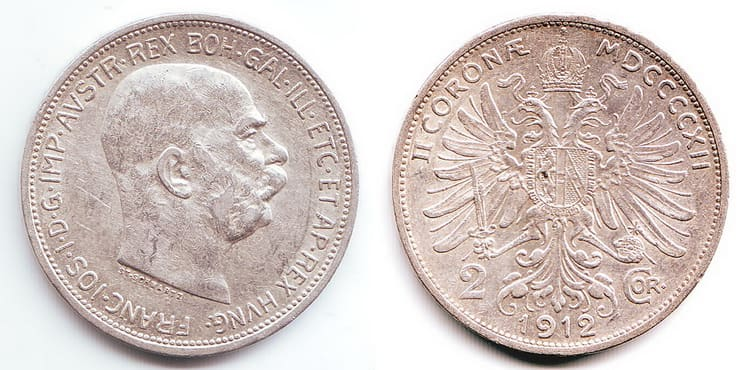 2 silver coronas 1912-1913