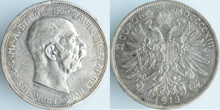 2 silver coronas