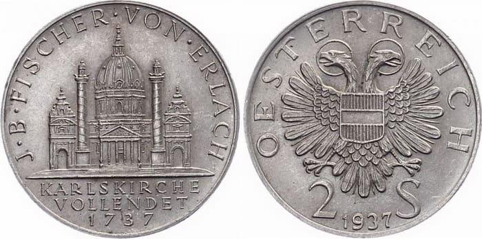2 silver shillings