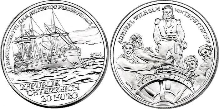 монета 20 евро
