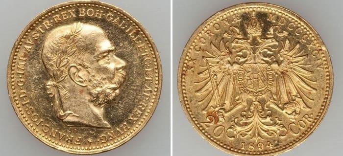 20 coronas 1894