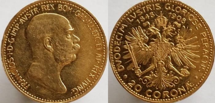 20 coronas 1908