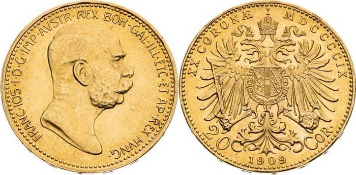 20 coronas 1909