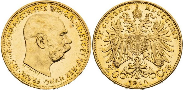 20 coronas 1914