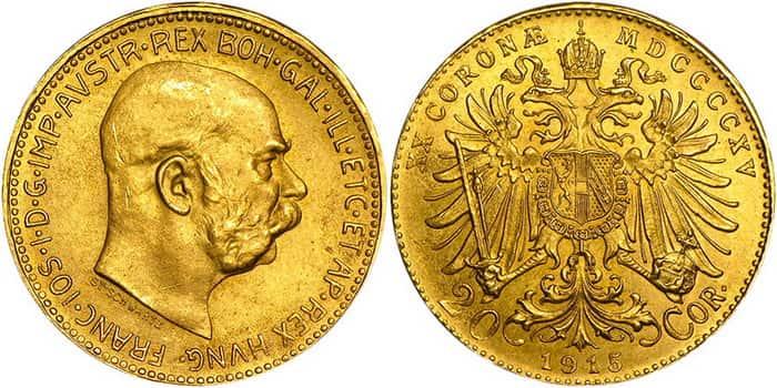 20 coronas 1915