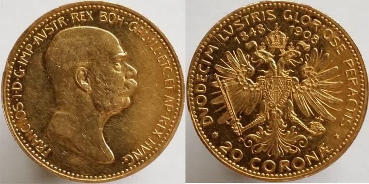 20 gold coronas 1908