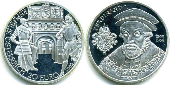 20 silver euro 2002