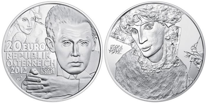 20 silver euro 2012 Egon Schiele