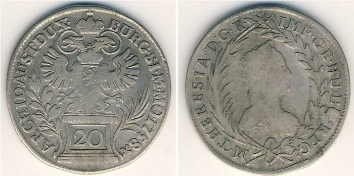 20 silver kreuzers 1758