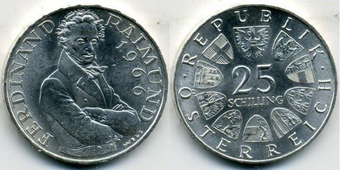 25 silver shillings 1966