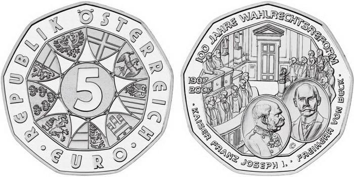 серебряные 5 евро
