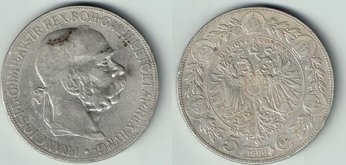 5 silver coronas