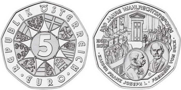 5 silver euro 2007