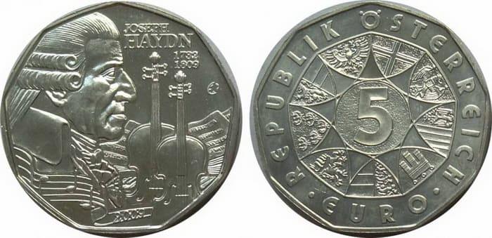 5 silver euro 2009