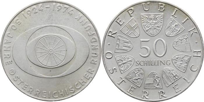 монета 50 шиллингов