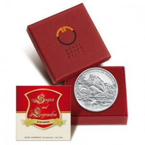 10 австрийских евро из серебра