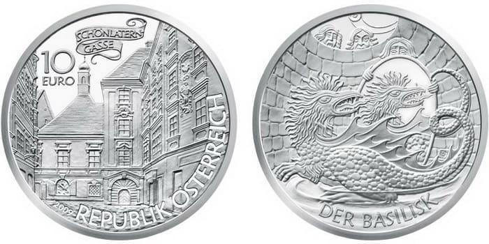 Basilisk in Vienna silver coin