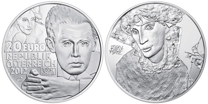 Egon Schiele silver coin