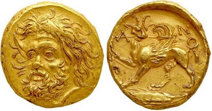 Golden stater of Panticapaeum