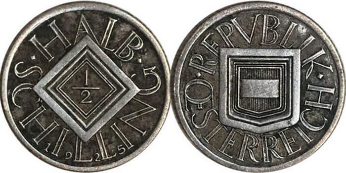 Half shillings 1925 - 1926
