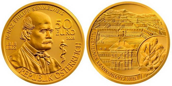 Ignaz Philip Semmelweis gold coin