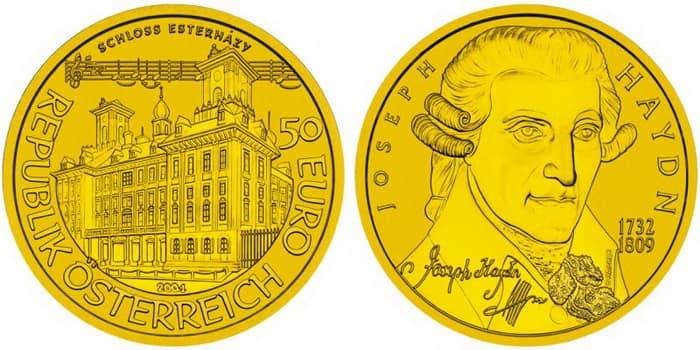 Josef Haydn gold coin