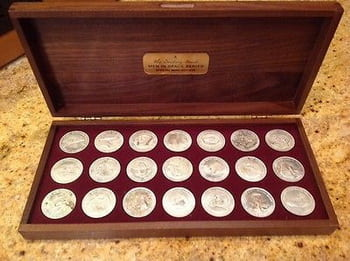 coins in a case