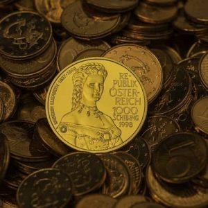 серебряные и золотые шиллинги Австрии