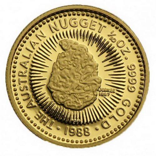 австралийская монета из серии Золотой самородок