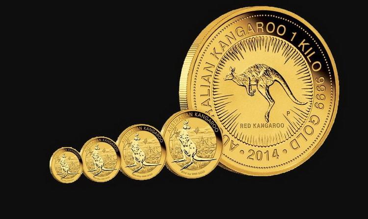 Варианты монет с кенгуру