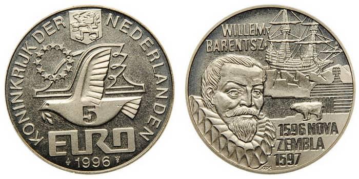 монета «Виллем Беренц» 1996 г.