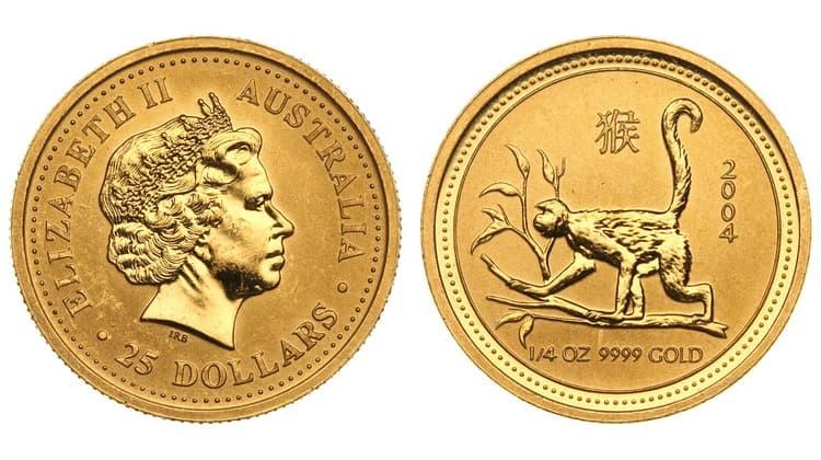 Монета из Лунной серии обьезьяна