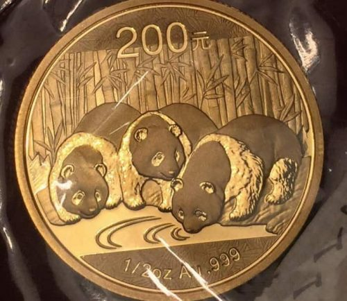 Золотая Панда 200 юаней
