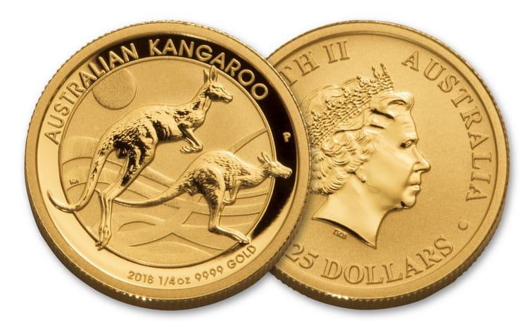 Золотая монета кенгуру в 15 долларов 2018 г.