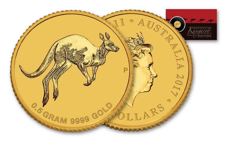 Золотая монета кенгуру в 5 долларов